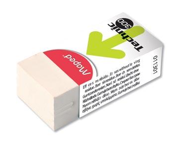 Maped gomme Technic 300 avec fourreau carton et emballage cellophane, boîte de 36 pièces