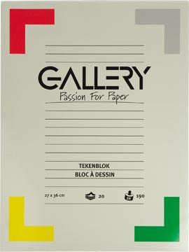 Gallery bloc de dessin 190 g/m², papier extra sans bois, 20 feuilles, ft 27 x 36 cm