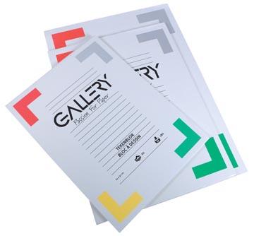Gallery bloc de dessin 190 g/m², papier extra sans bois, 20 feuilles, ft 24 x 32 cm