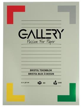 Gallery bloc de dessin 200 g/m², Bristol, 20 feuilles, ft 27 x 36 cm