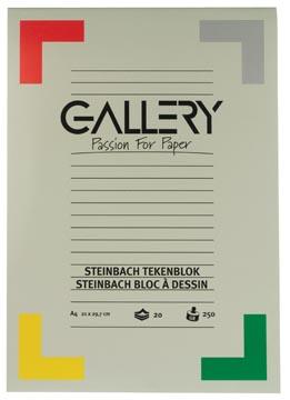 Gallery bloc de dessin 250 g/m², Steinbach grainé, 20 feuilles, ft 21 x 29,7 cm (A4)