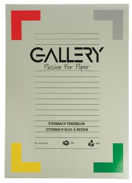 Gallery bloc de dessin 250 g/m², Steinbach grainé, 20 feuilles, ft 29,7 x 42 cm (A3)
