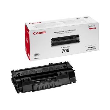 Canon toner 708, 2.500 pagina's, OEM 0266B002, zwart