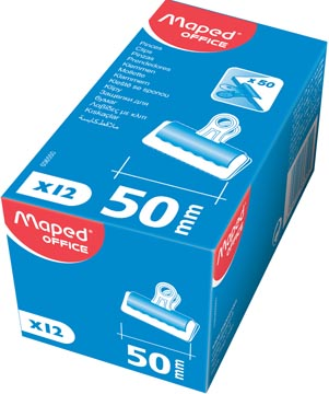 Maped bulldogclip 51 mm, zwart, doos van 12 stuks