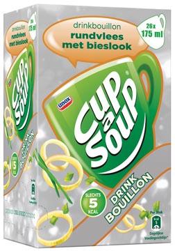 Cup-a-Soup drinkbouillon rundsvlees met bieslook, pak van 26 zakjes