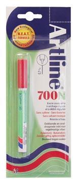 Permanent marker Artline 700 rood (op blister)