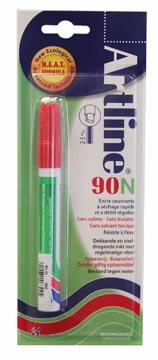 Permanent marker Artline 90 rood (op blister)