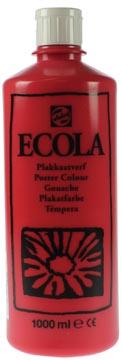 Talens Ecola gouache flacon de 1000 ml, écarlate
