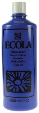 Talens Ecola gouache flacon de 1000 ml, bleu foncé