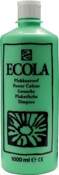 Talens Ecola plakkaatverf flacon van 1000 ml, lichtgroen
