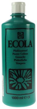 Talens Ecola plakkaatverf flacon van 1000 ml, donkergroen