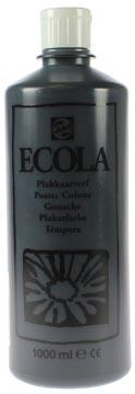 Talens Ecola gouache flacon de 1000 ml, noir