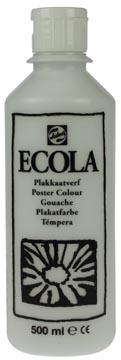Talens Ecola gouache flacon de 500 ml, blanc