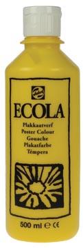 Talens Ecola plakkaatverf flacon van 500 ml, geel