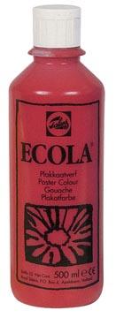 Talens Ecola plakkaatverf flacon van 500 ml, karmijn