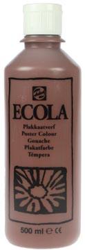 Talens Ecola plakkaatverf flacon van 500 ml, bruin