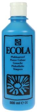 Talens Ecola plakkaatverf flacon van 500 ml, lichtblauw