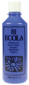 Talens Ecola plakkaatverf flacon van 500 ml, donkerblauw