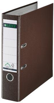 Leitz ordner, ft A4, 80mm, PP, bruin