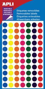 Apli verwijderbare etiketten cirkel 8 mm (b x h), 308 stuks
