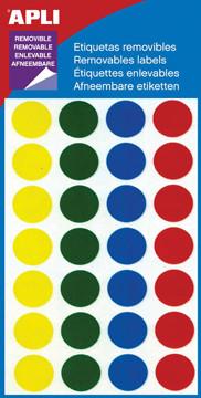Apli verwijderbare etiketten cirkel 15 mm (b x h), 112 stuks