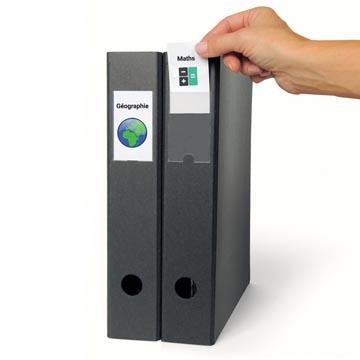 3L Porte-étiquette, ft 35 x 75 mm, étui de 12 pièces