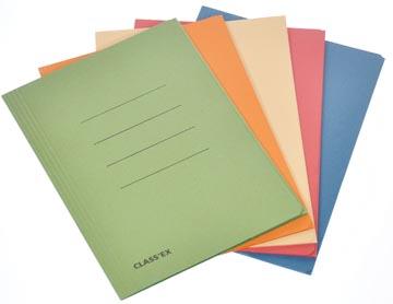 Class'ex chemise de classement couleurs assorties, ft 18,2 x 22,5 cm (pour ft cahier) (rouge, bleu, v...