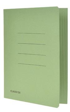 Class'ex dossiermap, 3 kleppen ft 18,2 x 22,5 cm (voor ft schrift), groen