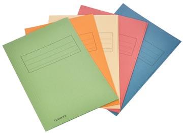 Class'ex dossiermap, 3 kleppen ft 23,7 x 34,7 cm (voor ft folio), geassorteerde kleuren