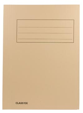 Class'ex chemise de classement chamois, ft 23,7 x 34,7 cm (pour ft folio)