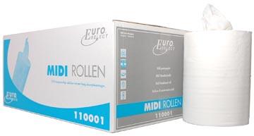 Europroducts rouleau d'essuie-mains en papier Midi, 1 pli, boîte de 6 pièces