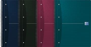 Oxford Essentials cahier spiralé, ft A4+, 180 feuilles, quadrillé 5 mm, perforation 4 trous