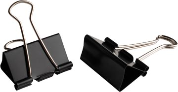 LPC foldbackclip, 51 mm, zwart, doos van 12 stuks
