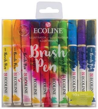 Talens Ecoline Brush pen, étui de 10 pièces, Illustrator