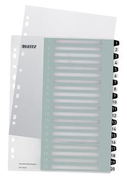 Leitz WOW printbare index, 20 tabs, zwart-wit