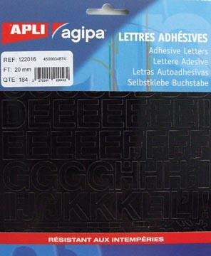 Agipa étiquettes chiffres et lettres hauteur des lettres 20 mm (l x h), 184 lettres