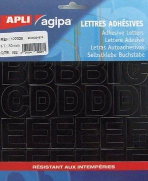 Agipa étiquettes chiffres et lettres hauteur des lettres 30 mm (l x h), 192 lettres