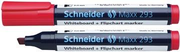 Schneider whiteboard + flipchart marker Maxx 293 rood