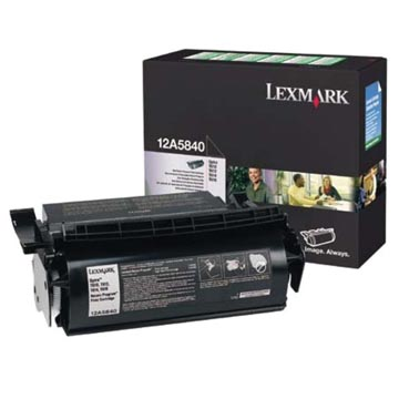Lexmark Tonercartridge zwart return program - 10000 pagina's - 12A5840