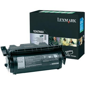 Lexmark Tonercartridge zwart return program - 5000 pagina's - 12A7460
