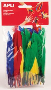 Apli ganzenveren, blister met 100 stuks in geassorteerde kleuren
