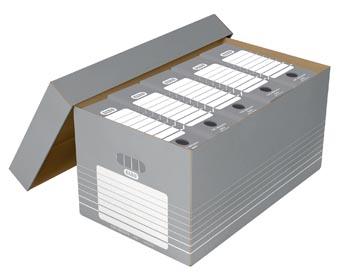 Elba boîte à archives, ft 37 x 62,2 x 32,2 cm gris et blanc, paquet de 5