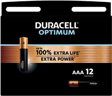Duracell batterij Optimum AAA, blister de 12 pièces