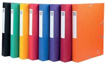Exacompta Boîte de classement Cartobox dos de 40 cm, couleurs assorties: vert, bleu, jaune, rouge, vio...
