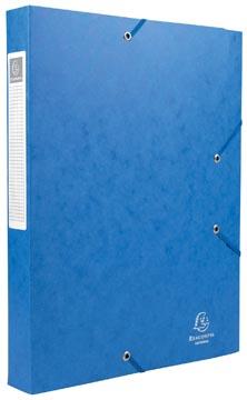 Exacompta Boîte de classement Cartobox dos de 4 cm, bleu, épaisseur 7/10e