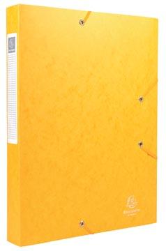 Exacompta Boîte de classement Cartobox dos de 4 cm, jaune, épaisseur 7/10e