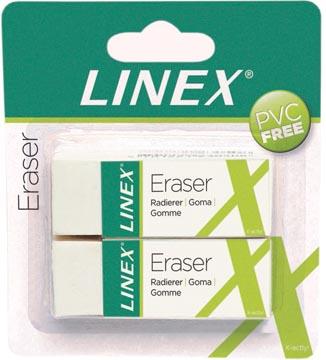 Linex witte gum, blister van 2 stuks