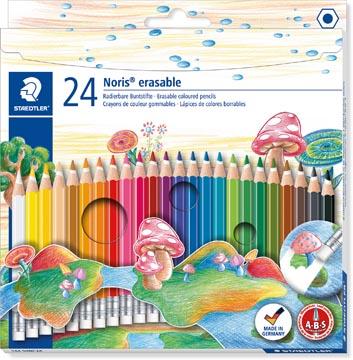 Staedtler kleurpotlood Noris Club uitgombaar 24 potloden