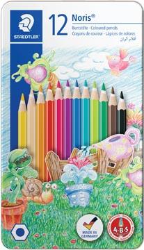 Staedtler crayon de couleur Noris Club 12 crayons en boîte métallique