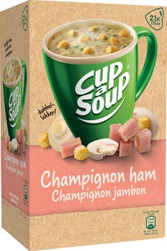 Cup-a-Soup champignon ham, pak van 21 zakjes
